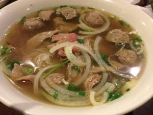 Pho Hai An Raw Beef Meatball Pho